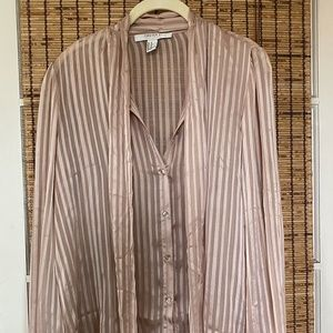 Sheer Button Down Loose/ Flowy Shirt